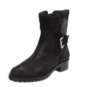 DONALD PLINER ~ Bruncie Black distressed Moto boot